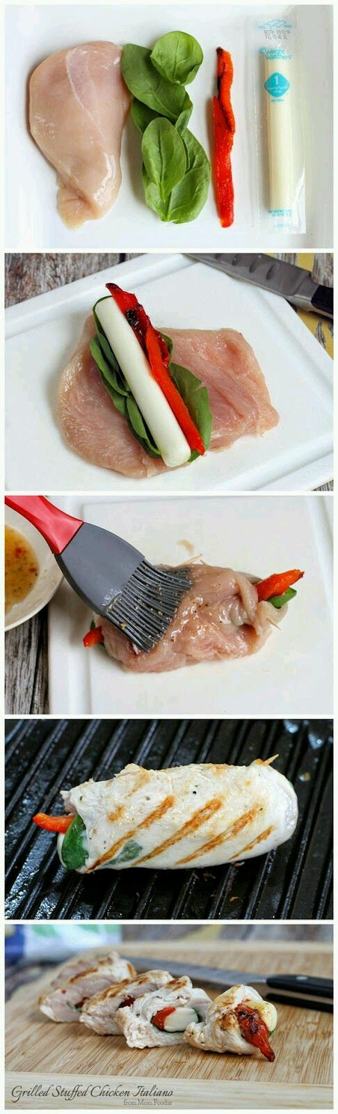 Grilled Chicken italia Roll ups #Food #Drink #Trusper #Tip