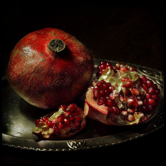 Pomegranate by Sashy these are so pretty to set out on your table before they are devoured!
