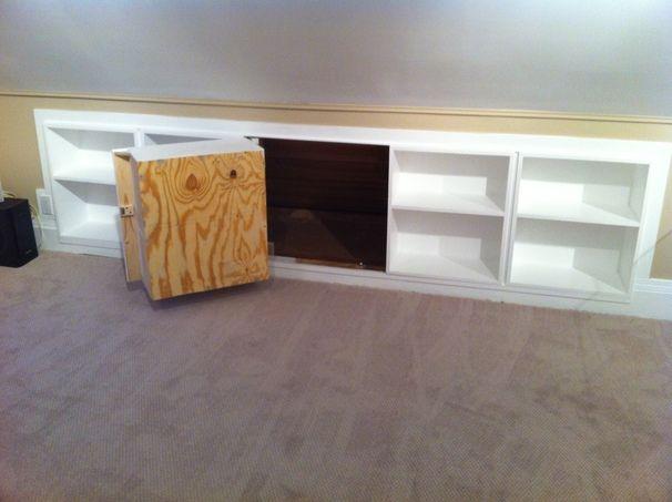 attic bookshelves secret access