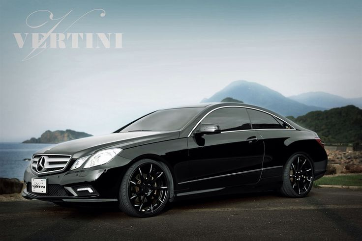 mercedes-benz-e-class-e350-e550-coupe-vertini-flying-black-concave-wheels