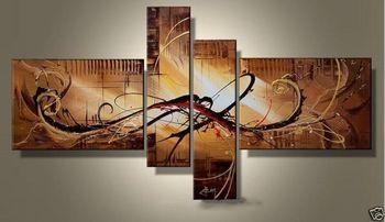 160cm * 90cm pintados a mano Aceite de la comparación del arte Débil Mañana amarillo Decoración casera moderna pintura al óleo abstracta en la lon ...