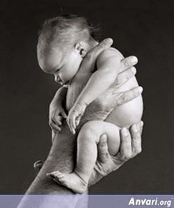 Imagine the look in the eyes of the person holding this tiny child....