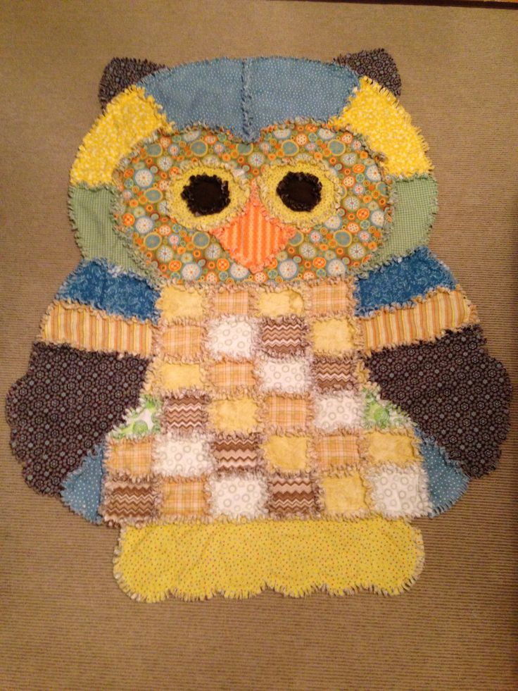 Rag Quilt Owl Pattern : 332 best images about Quilts on Pinterest Quilt modern, Boy quilts and Quilt