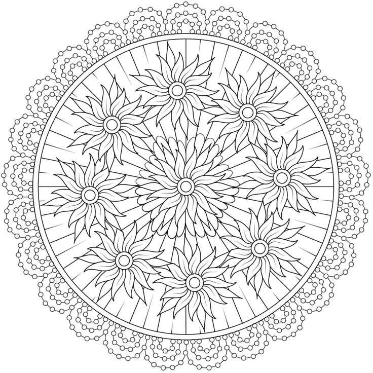 coloring pages adults circle - photo#20