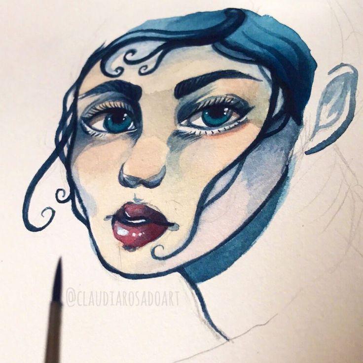 "136 Me gusta, 2 comentarios - Freelance Illustrator (@claudiarosadoart) en Instagram: ""Work in progress 😋"""