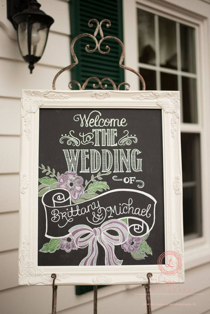 Loved Brittney's chalk board for her reception!