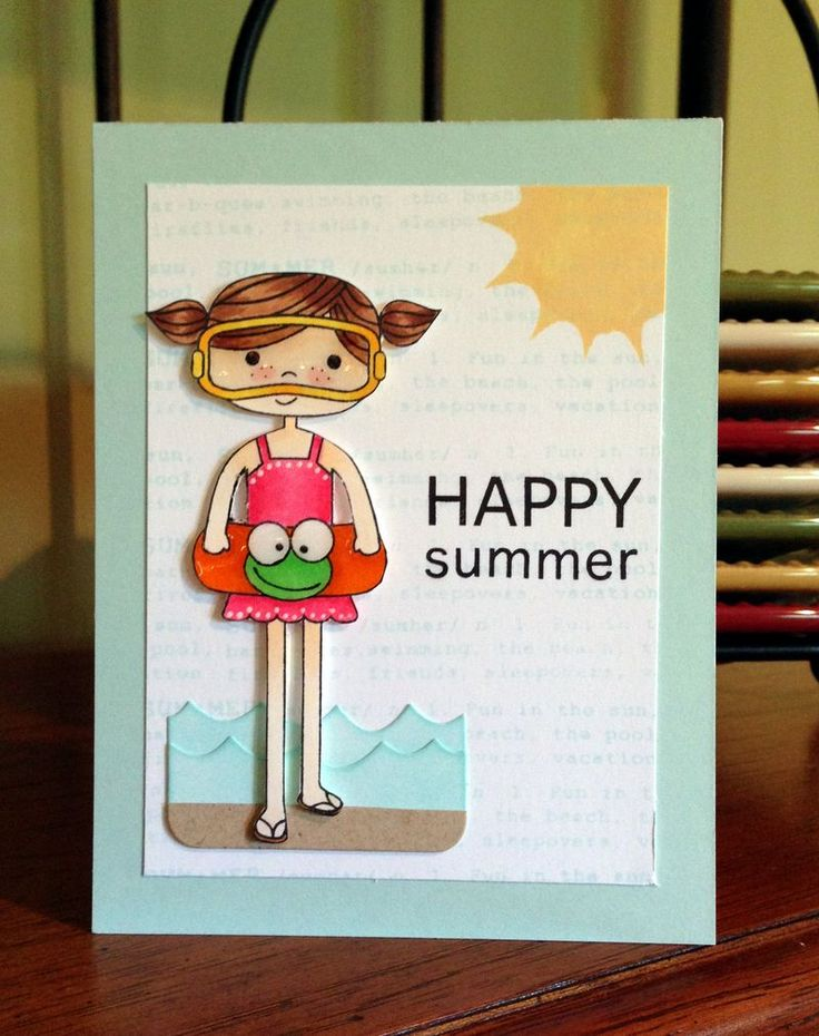 Love this Fun card created by Janna Millen using New Simon Says Stamp from the Splash of Color release.