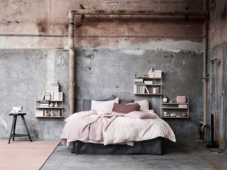 Simple, yet effective, a fresh coat of paint is an easy way to update your interior with the latest summer trends. Here, the Warehouse Home team have selected 5 of our favourite industrial spaces that show how pale and pretty paint shades can be used to soften an industrial scheme and concrete features.