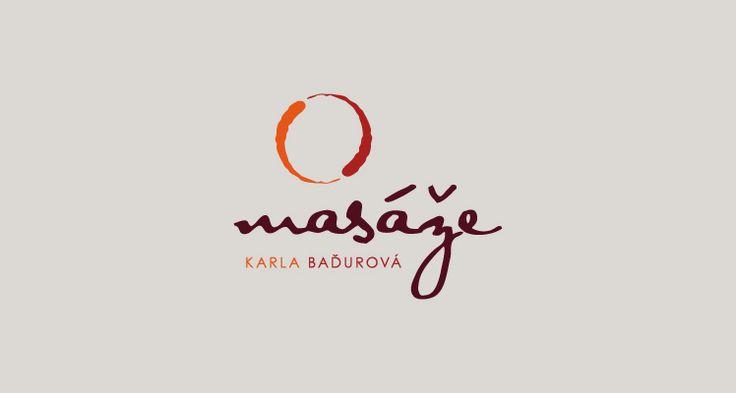 Karla Baďurová Masérka, Logotyp a vizuální styl (2011) Masseuse, logotype and visual style