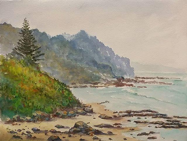 Where The Illawara Escarpment Meets The Sea Just North Of
