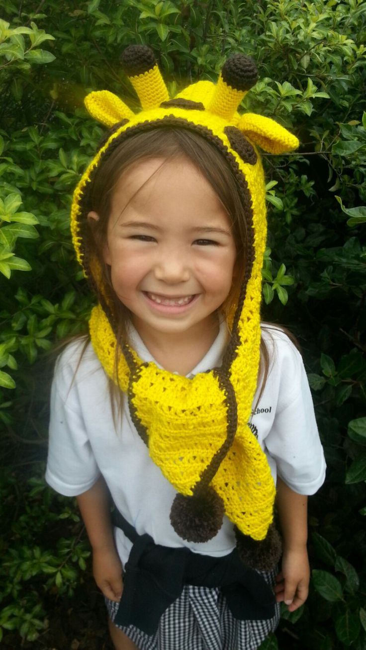 Crochet Giraffe Hat with Scarf by Rumic1 on Etsy