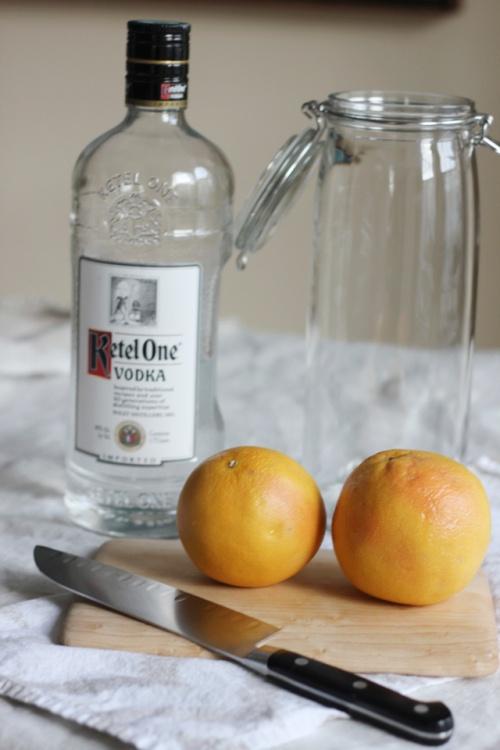 making grapefruit vodka (for greyhounds)