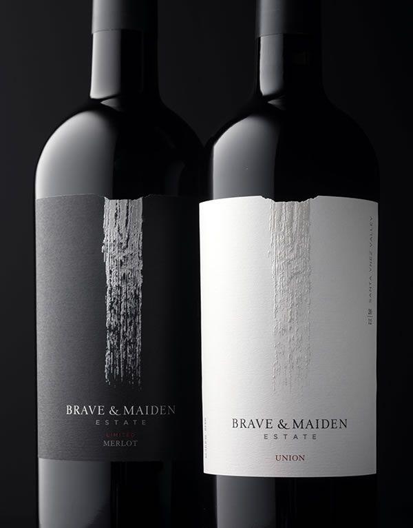 Brave & Maiden Estate / Wine Label & Package Design - CFNAPA Brand Design