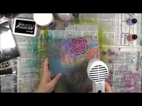 Art Journal: The Little Things  a fast forward process of making an art journal page from start to finish.