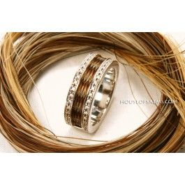 I want one with my old mare's hair - love this!! House of Salmi - Horsehair Jewelry