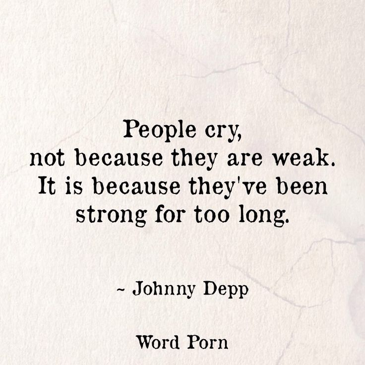 how to be strong and not cry