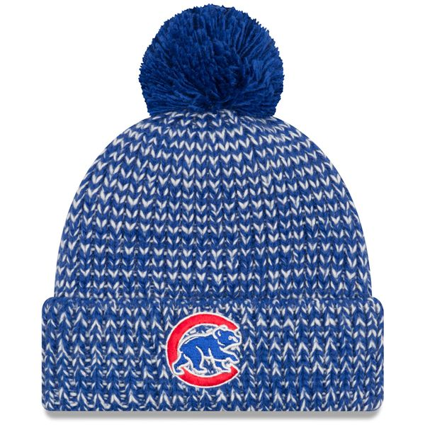 check out 2d426 1c0a3 Chicago Cubs Frosty Cuff Pom Knit  ChicagoCubs  Cubs  FlyTheW  MLB   ThatsCub   Hats by New Era - Chicago Cubs   Pinterest   Chicago Cubs, Cubs  and Chicago