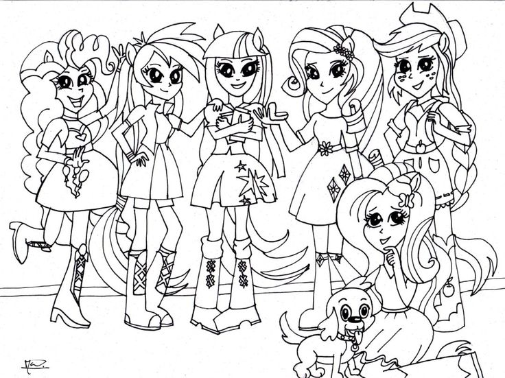 equestria dolls coloring pages - photo#28