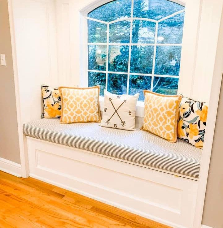 Custom Window Seat Cushion From The Hearth And Home Store In 2020 Custom Window Seat Custom Window Seat Cushion Window Seat Cushions