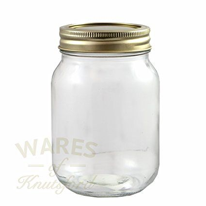 Pack of 6 x 500ml Mason Preserving Jars