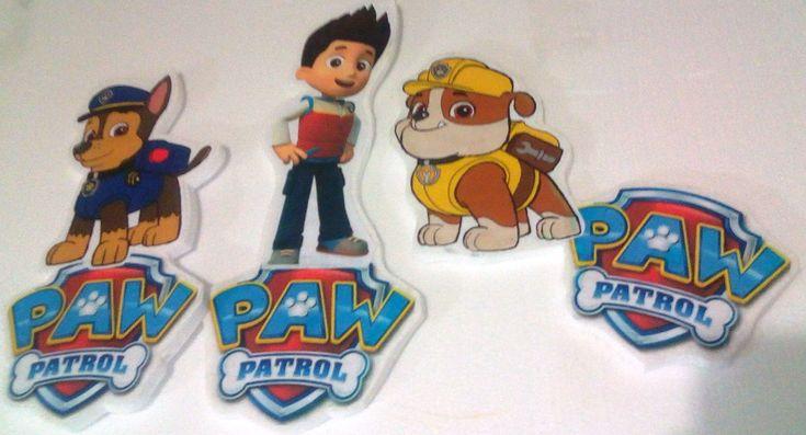 Paw Patrol  aplique para pegar  en  pared 3