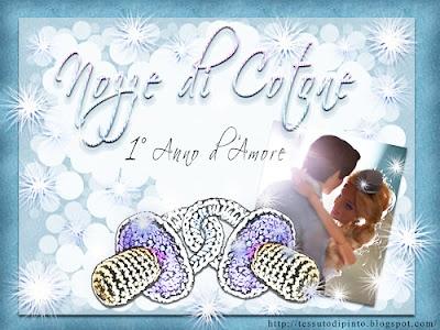 Nozze di cotone: 1° Anniversario di Matrimonio - Virtual card