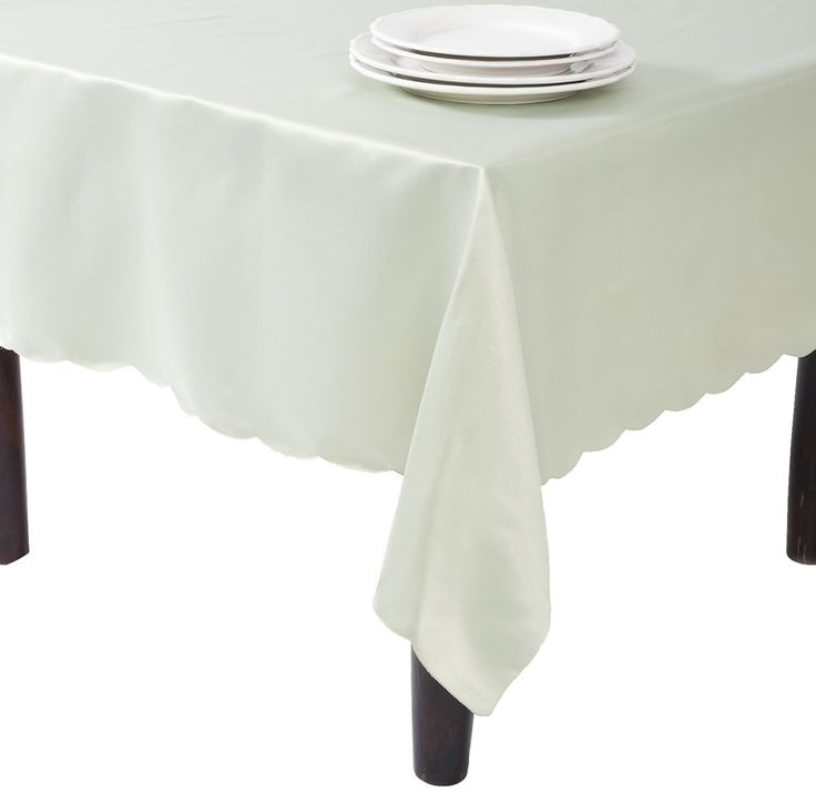 SARO LIFESTYLE LN201 Oblong Tablecloth Liners, 65-Inch by 162-Inch, Pistachio