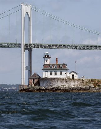 Rose Island Lighthouse, RI. You become the keeper at this 133-year-old lighthouse. 165 dollars per night for a room here includes performing a list of chores that keep the station working.