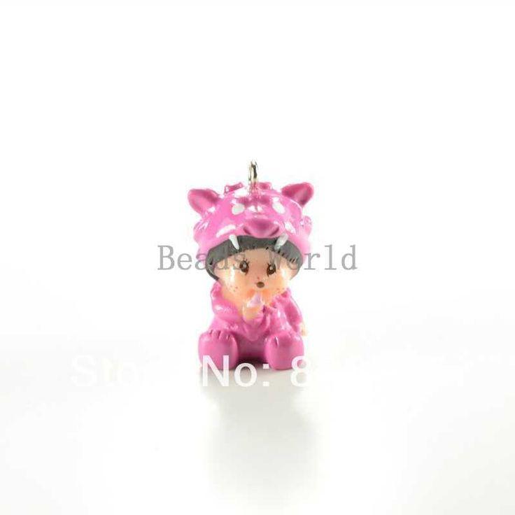 Подвески бесплатная доставка 10 шт. милый маленький обезьяна MONCHHICHI в красный дракон пижамы смолаы шарм 33 X 20 мм ( W03358 X 1 )