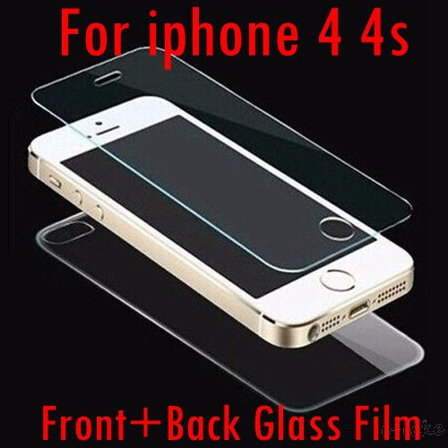 Front + Back 2pcs HD Clear Transparent Screen Protective Tempered Glass Film for iphone 4 4s / 5 5s 5se / 6 6s / 6plus 6splus