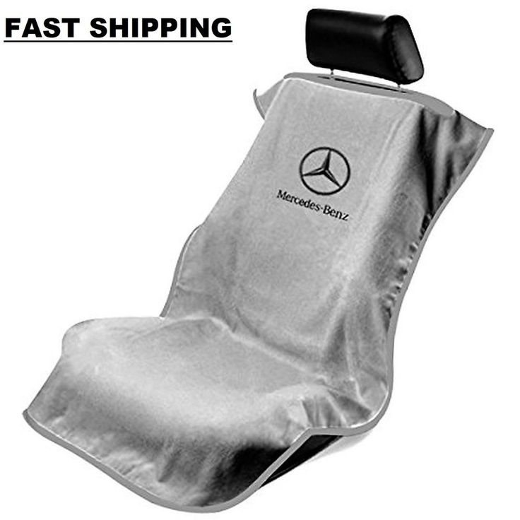 Seat Armour SA100MBZG Grey 'Mercedes Benz' Seat Protector Towel (2DSHIP) #SeatArmour