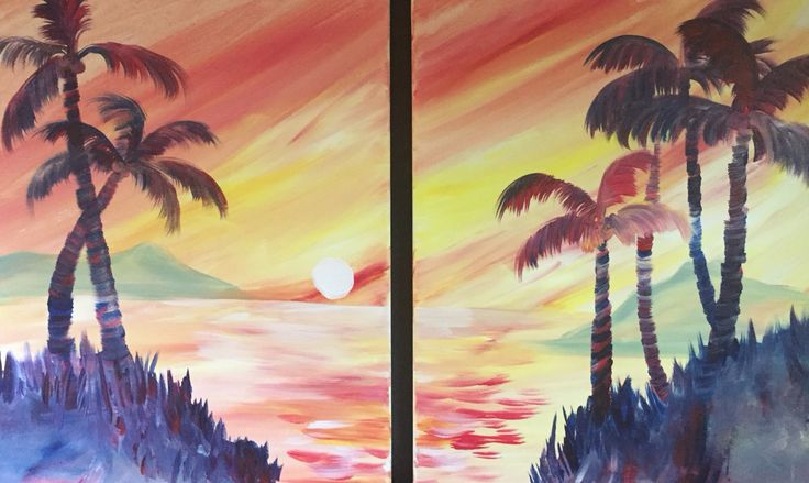 Tropical Island Escape Partner Painting