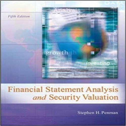 Solutions Manual For Financial Statement Analysis And
