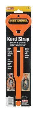 Bayco K-175 Do It Cord Storage Strap by Bayco. $1.99. KORD MANAGER KORD STRAP *Adjustable flexible strap for carrying and storing extension cord, rope, garden hose, Christmas lights, etc. *Comfortable handle hangs neatly for storage *Capacity: Holds up to 100 ft of 14/3 cord *Orange