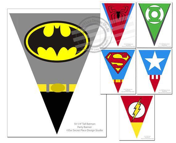 INSTANT DOWNLOAD Superhero Party Banner Super von OurSecretPlace