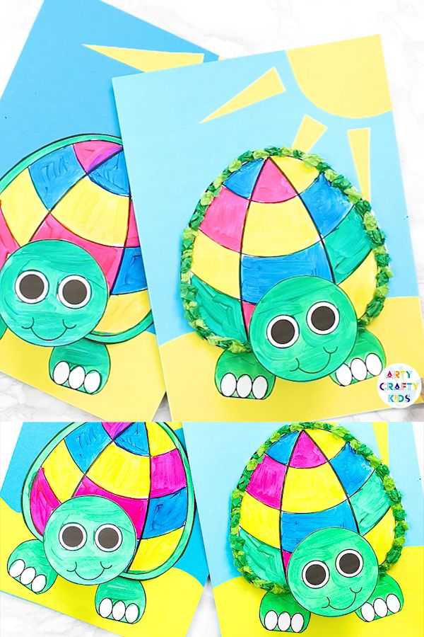 Printable Paper Turtle Craft for Youngsters