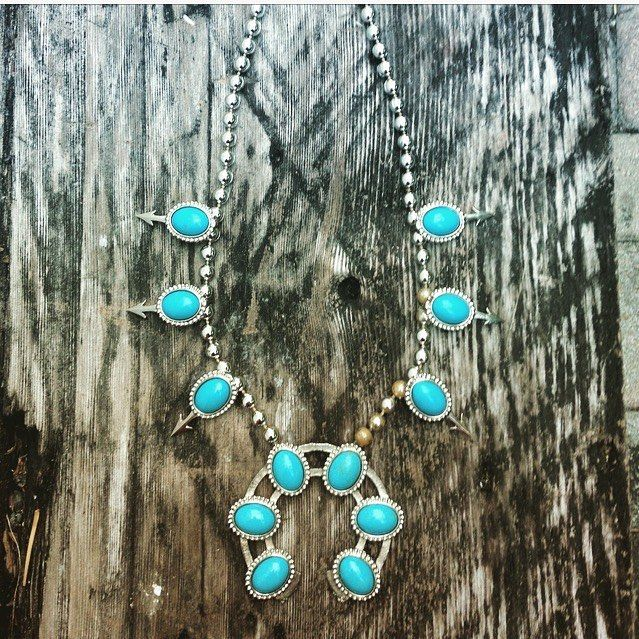 27 Likes, 3 Comments - sharonna misha designs (@sharonna.misha.designs) on Instagram: Squash Blossom Faux #turquoise #Necklace #naja #Horseshoe #CrescentMoon #moon #arrows! #southwestern Large #statementnecklace #Pendant #Silver #Costume #vintage #squashblossom Long #bohobride #bridal #wedding #nativeamerican #inspired #americanindian #jewelry #beautiful #flower #picoftheday #westpalmbeach #palmbeach #follow @sharonnamisha on #etsy n #instagram