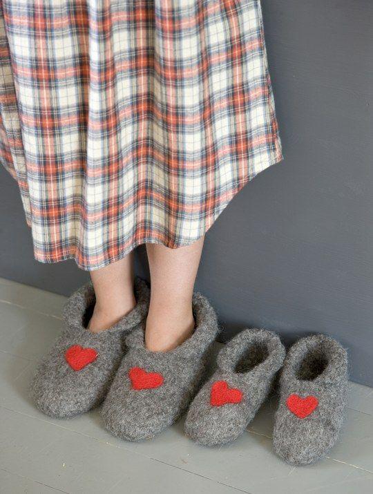 Novita felting ideas, slippers made with Novita Huopanen yarn #novitaknits https://www.novitaknits.com/en