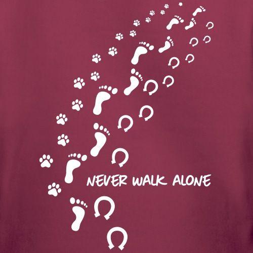 Never walk alone hund pferd