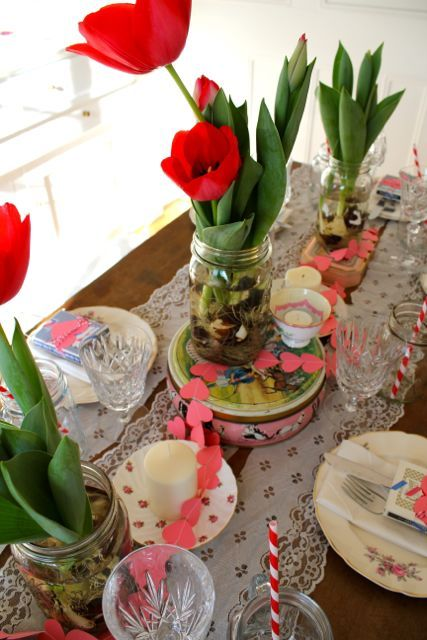 15 best images about retreat valentine dinner on pinterest for Valentines dinner party ideas