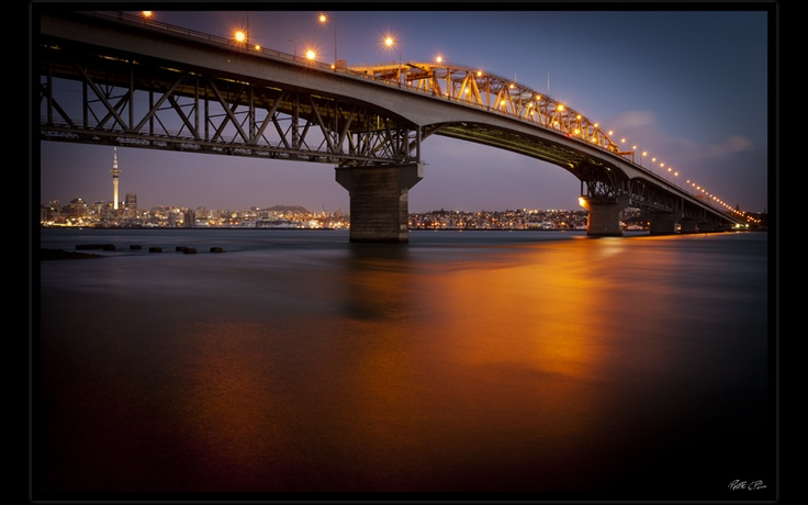 Auckland City & Harbour Bridge by PhotoCPL  Where I'm from!