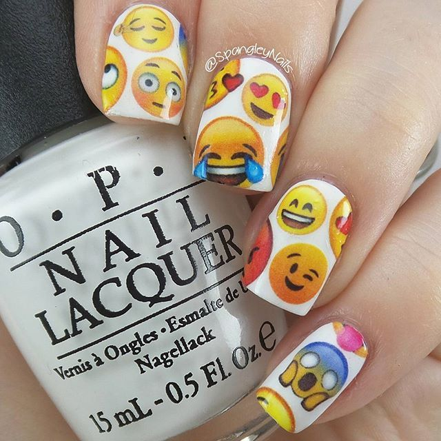 Emoji nail art! So happy with these ones - watch... | Nailed it NZ ...