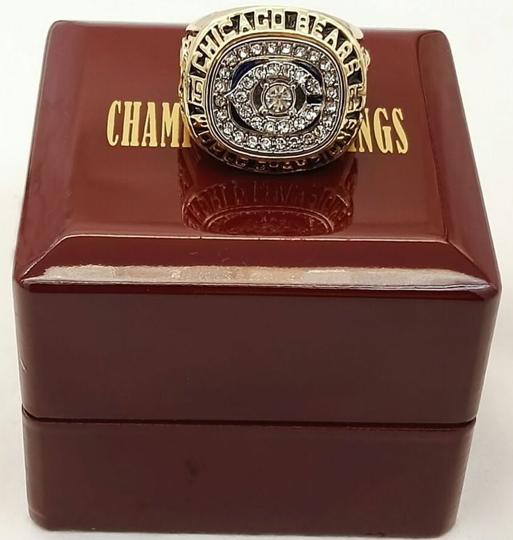 2016 New Fashion Classic 1985 Chicago Bears Super Bowl Football Championship Ring With Wooden Boxes,good quality ring!!!!!!!