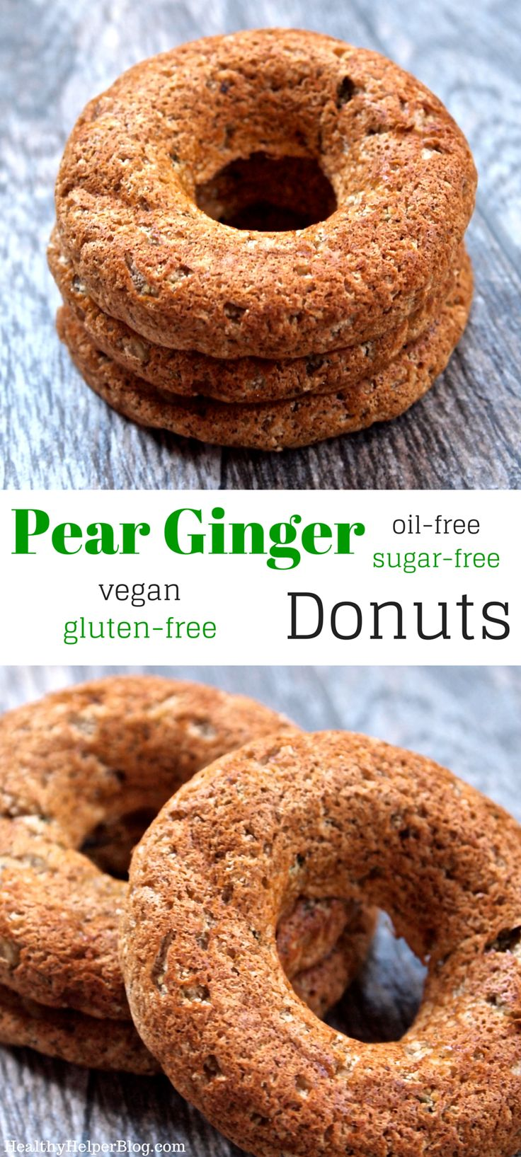 Pear Ginger Donuts from @Healthy_Helper....Perfectly spiced and sweet ...
