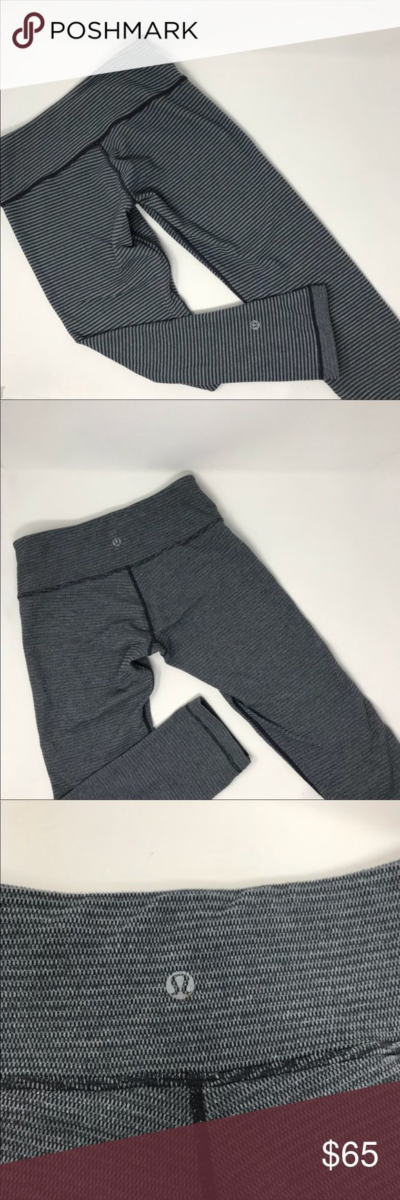 Lululemon REVERSIBLE crop winder under leggings ❌No trades  - ❌ ALL sales are final 💗Be courteous no low balls 💌Reasonable offers accepted 📦 Ships out same day or next - depending what time of day you ordered ⬇️Have a question? Leave a comment 😀  Product Info📝: 🔗Color: Black + Gray 🔗No damage 🔗Reversible 🔗Black stitching lululemon athletica Pants Track Pants & Joggers