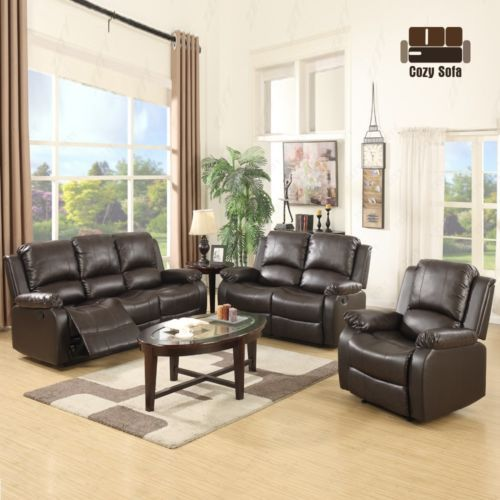 3 Set Sofa Loveseat Chaise Couch Recliner Leather Living Room Furniture  Brown #ad - 25+ Best Ideas About Chaise Couch On Pinterest Oversized Living