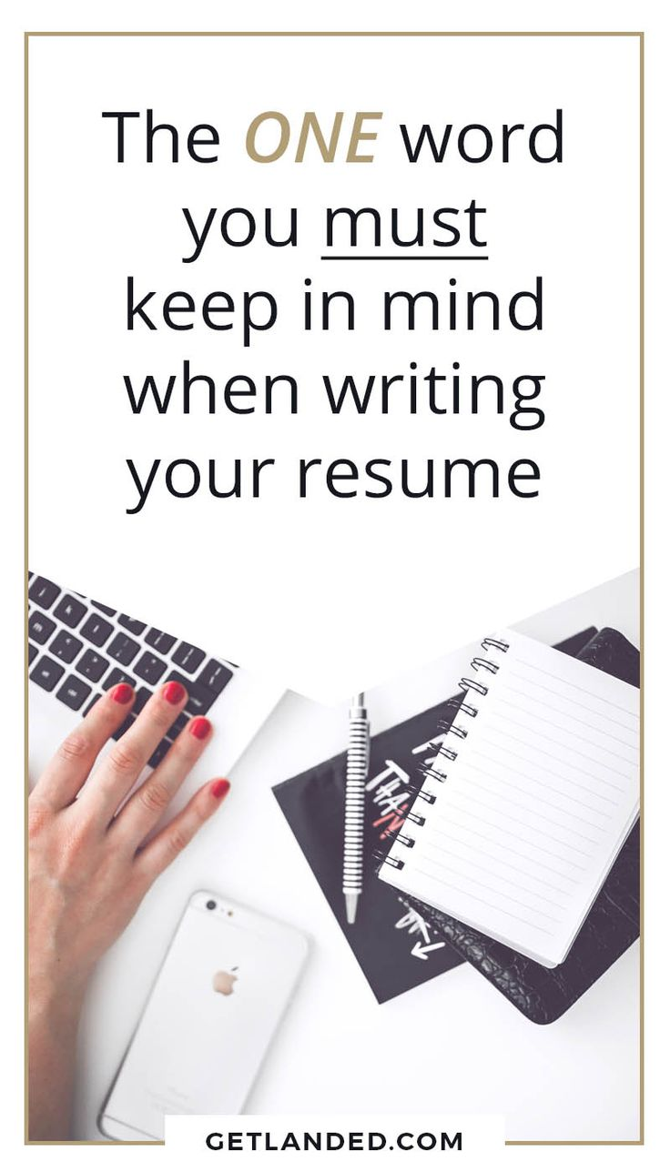 Resume Writing Tips   The ONE Word You Absolutely Have To Keep In Mind When  Writing