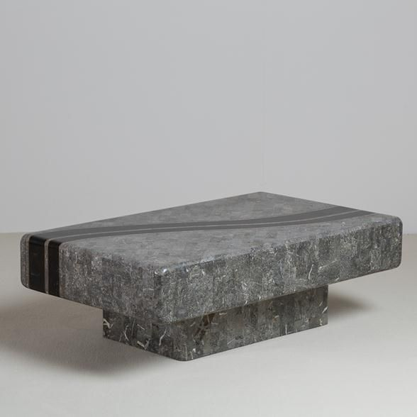 Talisman A Tessellated Stone Coffee Table by Maitland Smith 1980s -