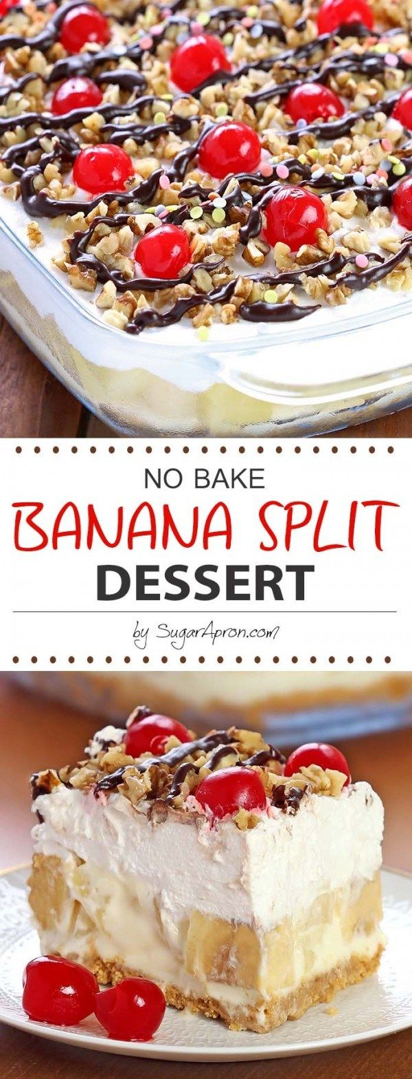 Get the recipe ♥ No Bake Banana Split Dessert #besttoeat Best to Eat!