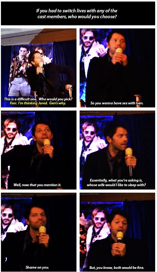 Misha on which of his costars he would like to switch lives with.